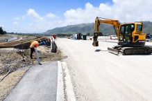 M2PP. Nga Manu bridge and surrounds nearing completion. Photo copyright Mark Coote.